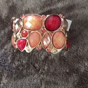 Bracelet - Multi colored stone stretchable